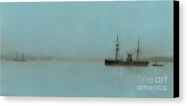 Port Canvas Print featuring the painting Port Light by John Atkinson Grimshaw