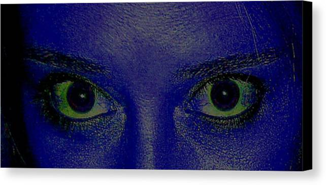 Blue Canvas Print featuring the photograph The Eys Have It-abstract by Debbie May