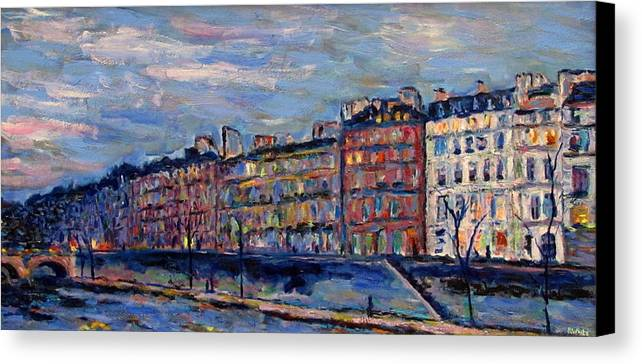 Seine Canvas Print featuring the painting The Seine In Paris by Rob White