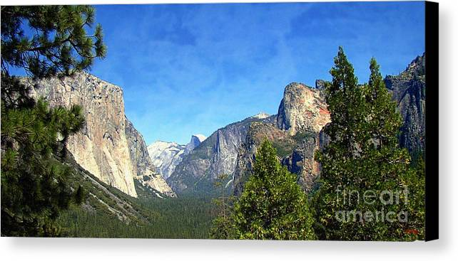 Panoramic Canvas Print featuring the photograph The Valley Of Inspiration-yosemite by Glenn McCarthy Art and Photography