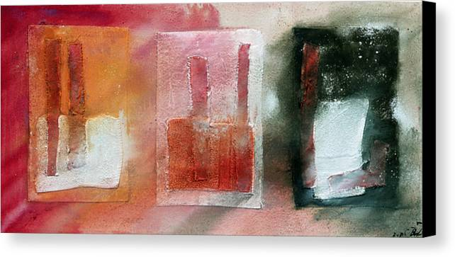 Color Surface Summer Oil Pink White Green Canvas Print featuring the painting Verano 6 by Jorge Berlato