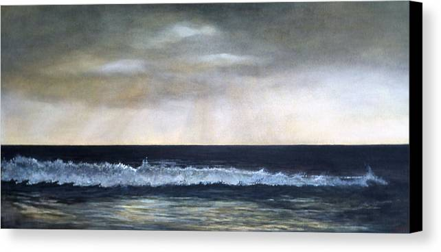 Stormy Sky Canvas Print featuring the painting West Coast by Victoria Heryet