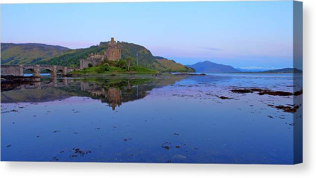 Europe Canvas Print featuring the photograph Eilean Donan Castle by Ollie Taylor