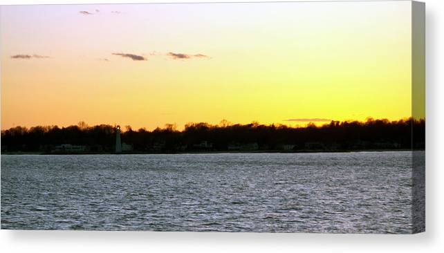 Sunsets Canvas Print featuring the photograph New London Light At Sunset by Gerald Mitchell