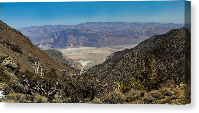 Landscape Canvas Print featuring the photograph Saline Valley Panorama by David Salter