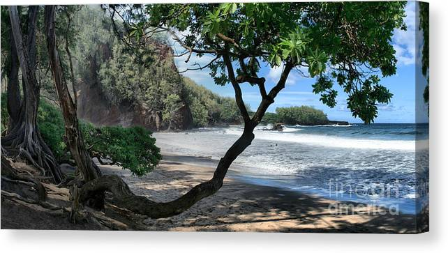 Aloha Canvas Print featuring the photograph Enchanted Rocks Koki Beach Haneoo Hana Maui Hawaii by Sharon Mau