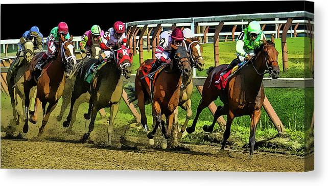 Saratoga Canvas Print featuring the photograph The Sport Of Kings by Jeff Watts