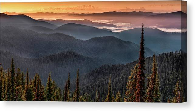 Idaho Scenics Canvas Print featuring the photograph Lewis And Clark Route 2 by Leland D Howard