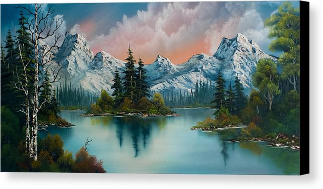 Landscape Canvas Print featuring the painting Autumn's Glow by C Steele
