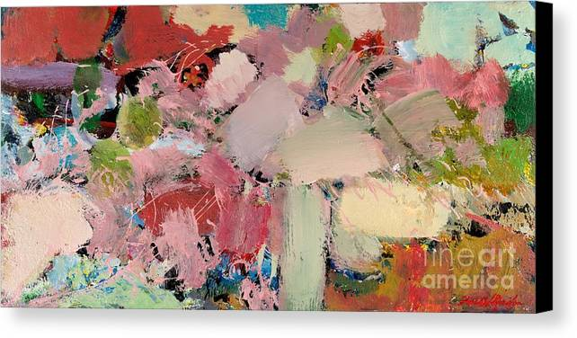 Landscape Canvas Print featuring the painting Azaleas by Allan P Friedlander