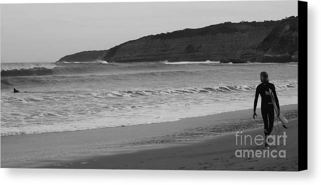 Surfers Canvas Print featuring the photograph Big Afternoon Surf by Amanda Holmes Tzafrir