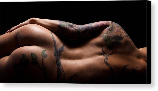 Nude Canvas Print featuring the photograph Bodyscape 502 by Studiodreas Photography