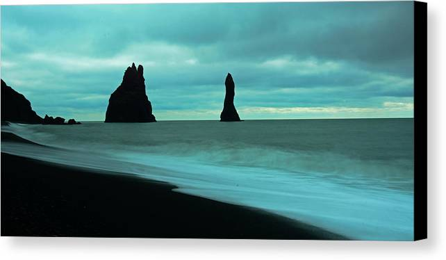 Iceland Canvas Print featuring the photograph Calm Blue by Brandyn King