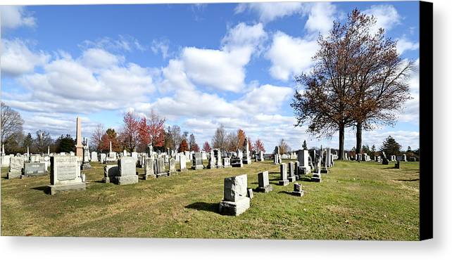 Gettysburg Canvas Print featuring the photograph Cemetery At Gettysburg National Battlefield by Brendan Reals