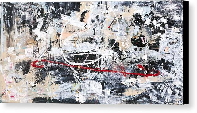 Abstract Canvas Print featuring the mixed media Cirque by Maria Lankina