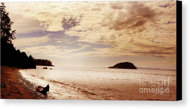 Deception Bay Washignton Canvas Print featuring the photograph Deception Bay Washington by Artist and Photographer Laura Wrede