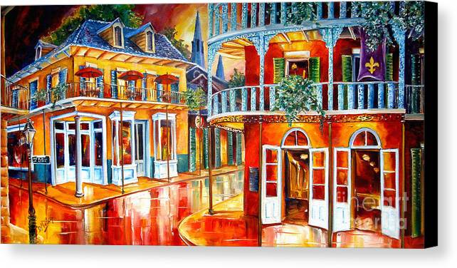 New Orleans Canvas Print featuring the painting Divine New Orleans by Diane Millsap