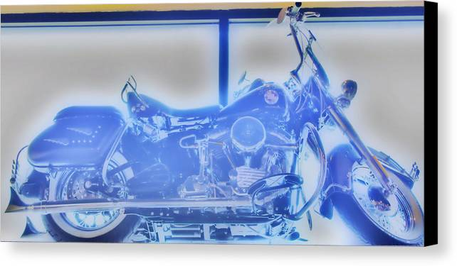 Elvis Presley Canvas Print featuring the photograph Elvis Presley Harley Davidson Hdr by Thomas MacPherson Jr