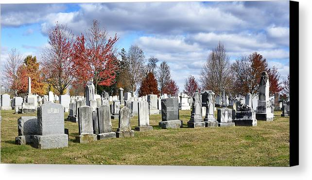 Gettysburg Canvas Print featuring the photograph Gettysburg National Cemetery by Brendan Reals