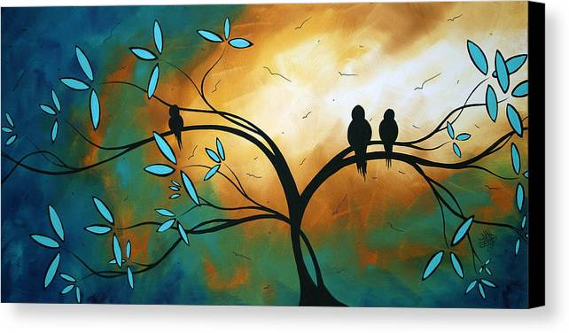 Art Canvas Print featuring the painting Longing By Madart by Megan Duncanson