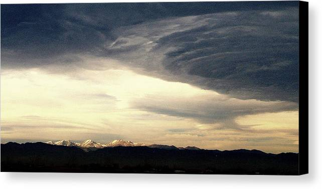 Canvas Print featuring the photograph Mountain Dreams.. by Al Swasey