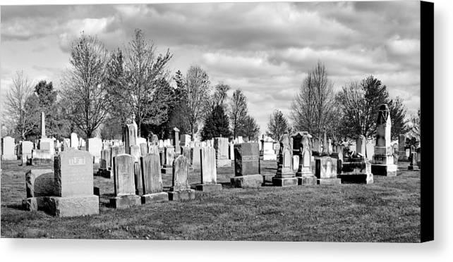 Gettysburg Canvas Print featuring the photograph National Cemetery - Gettysburg Battlefield by Brendan Reals