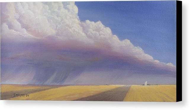 Landscape Canvas Print featuring the painting Nebraska Vista by Jerry McElroy
