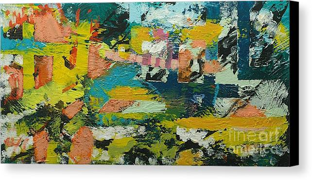 Landscape Canvas Print featuring the painting Rhythm On Jackson by Allan P Friedlander