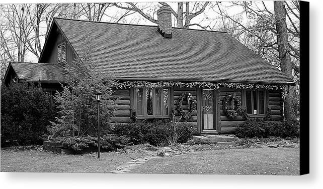 Cabin Canvas Print featuring the photograph Scenic Cabin by Frozen in Time Fine Art Photography