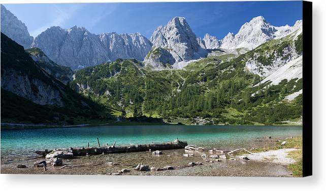 Alpen Canvas Print featuring the photograph Seebensee by Wolfgang Woerndl
