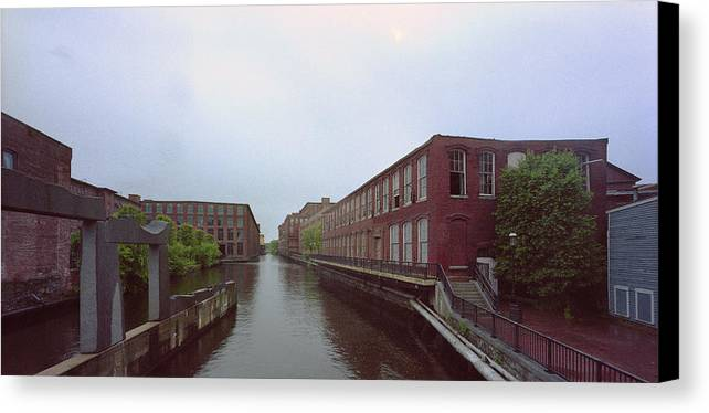 Merrimack River Canvas Print featuring the photograph Market Mills Lowell by Jan W Faul