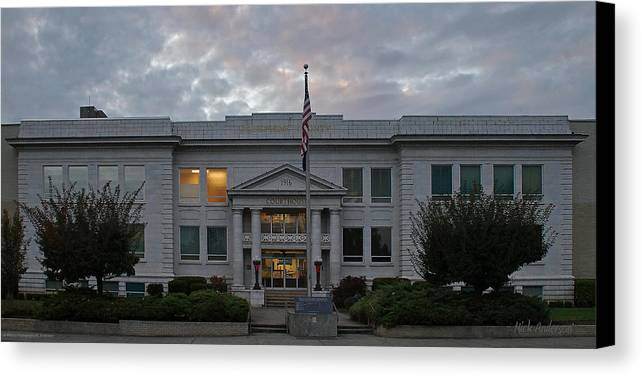 Josephine County Canvas Print featuring the photograph Josephine County Court House by Mick Anderson