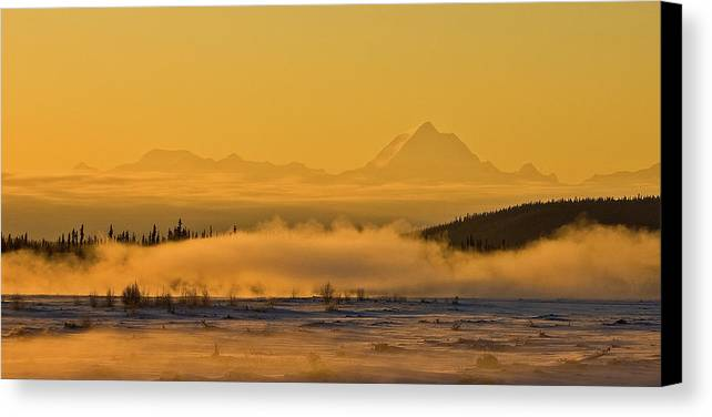 Tanana River Canvas Print featuring the photograph Morning Fog by Jim and Kim Shivers