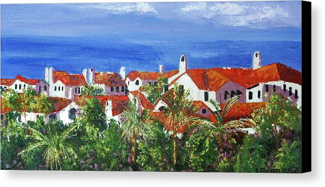 Off The Coast Canvas Print featuring the painting Off The Coast by Anthony Falbo