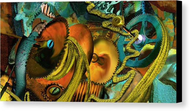 Science Canvas Print featuring the painting The Riotous Rope by Anne Weirich
