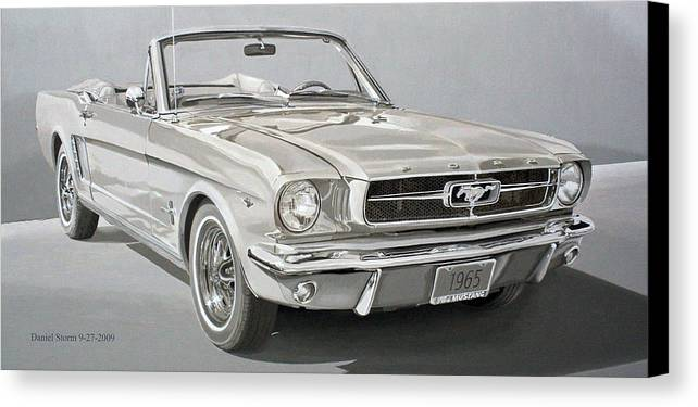 1965 Ford Mustang Canvas Print featuring the painting 1965 Ford Mustang by Daniel Storm