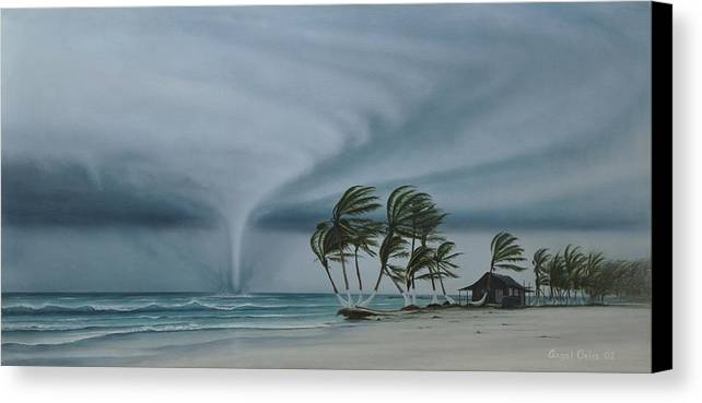 Canvas Print featuring the painting Mahahual by Angel Ortiz