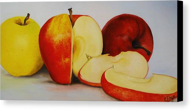 Realism Canvas Print featuring the painting Apples by Emily Page