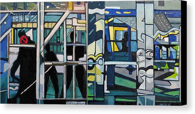 Abstract Canvas Print featuring the painting Atlanic City Abstract No.1 by Patricia Arroyo