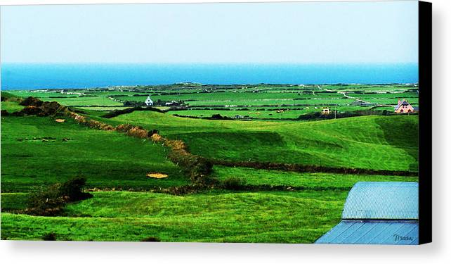 Ireland Canvas Print featuring the photograph Atlantic View Doolin Ireland by Teresa Mucha