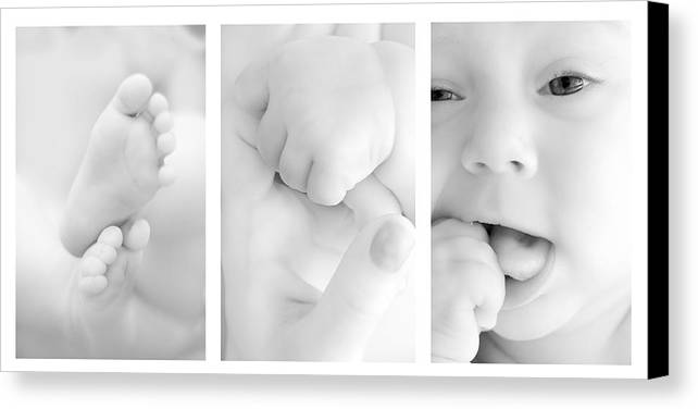 Adorable Canvas Print featuring the photograph Baby Details by Jaroslaw Grudzinski