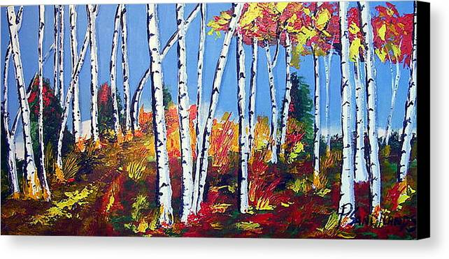 Birches Canvas Print featuring the painting Birches by Paul Sandilands