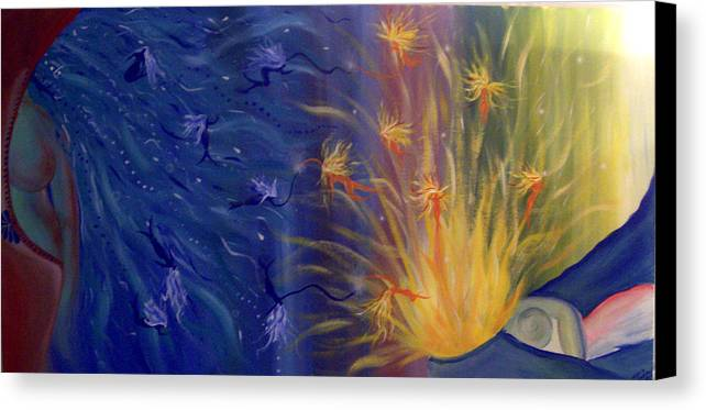 Colorful Canvas Print featuring the painting Dance Of Life by Hollie Leffel