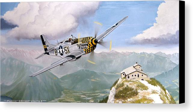 Military Canvas Print featuring the painting Double Trouble Over The Eagle by Marc Stewart