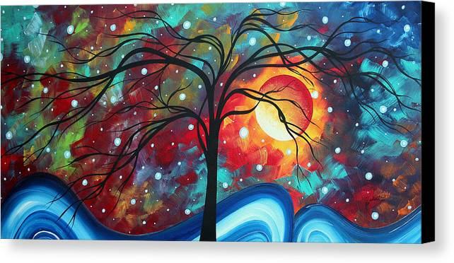 Original Canvas Print featuring the painting Envision The Beauty By Madart by Megan Duncanson
