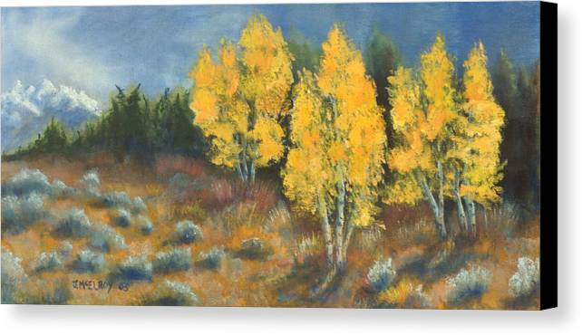Landscape Canvas Print featuring the painting Fall Delight by Jerry McElroy
