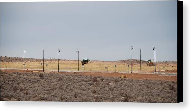 Trackor Canvas Print featuring the photograph Levels Of Land by Rob Hans