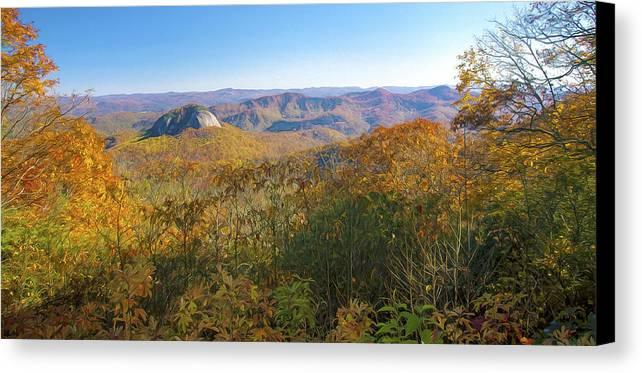 Looking Glass Rock Canvas Print featuring the digital art Looking Glass Rock by Mark Van Martin