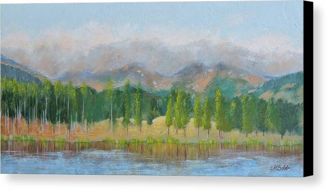 Mountains Canvas Print featuring the painting Misty Mountains by Margaret Bobb