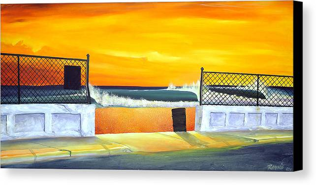 Surf Canvas Print featuring the painting N.e.p. by Ronnie Jackson